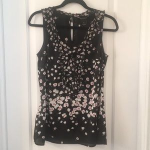 cbab56aaeb216b White House Black Market. Very light-weight cherry blossom print tank top.